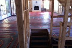 Plancher radiant résidentiel
